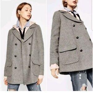 Zara wool blend coat M
